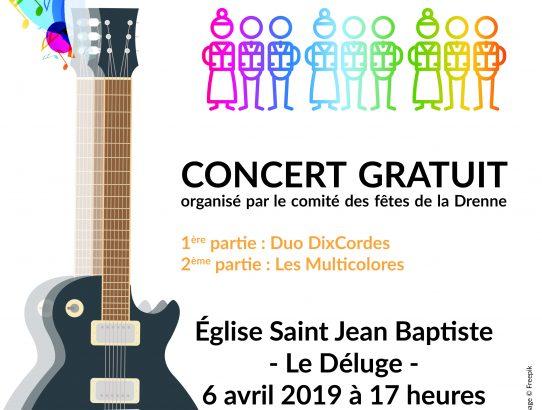 Concert au Déluge le 6 avril